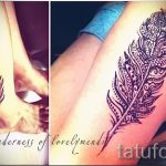 mehendi feather on his leg - the options of temporary henna tattoo on 05082016 1062 tatufoto.ru
