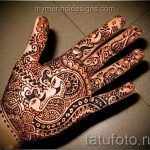 mehendi on a hand bird - Picture temporary henna tattoo 1087 tatufoto.ru