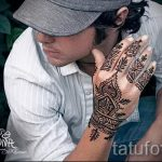 mehendi on a hand men - a temporary henna tattoo photo 1089 tatufoto.ru
