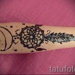 mehendi on hand Dreamcatcher - Picture temporary henna tattoo 1101 tatufoto.ru