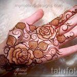 mehendi on hand flowers - Photo temporary henna tattoo 1103 tatufoto.ru
