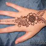 mehendi on hand for beginners - Picture temporary henna tattoo 1104 tatufoto.ru