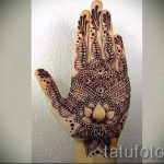 mehendi on hand lotus - a temporary henna tattoo photo 1110 tatufoto.ru