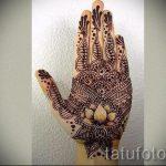 mehendi on hand lotus - a temporary henna tattoo photo 1110 tatufoto.ru