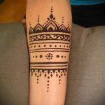 mehendi on her arm light patterns for beginners - Picture temporary henna tattoo 1120 tatufoto.ru