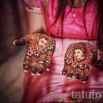 mehendi on her hand drawing - photo temporary henna tattoo 2126 tatufoto.ru