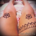 mehendi on the leg on the thigh - options for temporary henna tattoo on 05082016 2082 tatufoto.ru