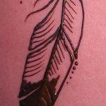 mehendi plume sur sa jambe - les options de tatouage au henné temporaire sur 05082016 1088 tatufoto.ru