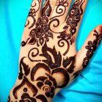 mehendi sur la main henné noir - une photo de tatouage au henné temporaire 1147 tatufoto.ru