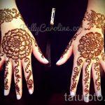 mehendi sur les fleurs d'occasion - photo temporaire tatouage au henné 1155 tatufoto.ru
