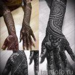 mehendi sur son bras jusqu'au coude - une photo de tatouage au henné temporaire 1167 tatufoto.ru