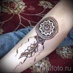 mehendi zu Fuß Traumfänger - Optionen für temporäre Henna-Tattoo auf 05082016 2102 tatufoto.ru