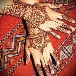 motifs mehendi sur la main - une photo de tatouage au henné temporaire 1191 tatufoto.ru