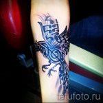 notes et oiseaux tatouage - photos du tatouage fini sur 02082016 1009 tatufoto.ru