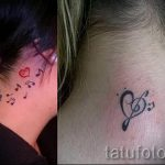 notes tattoo on his neck - a photo of the finished tattoo 02082016 1015 tatufoto.ru