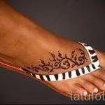peintes au henné sur le pied - des options pour tatouage au henné temporaire sur 05082016 1107 tatufoto.ru