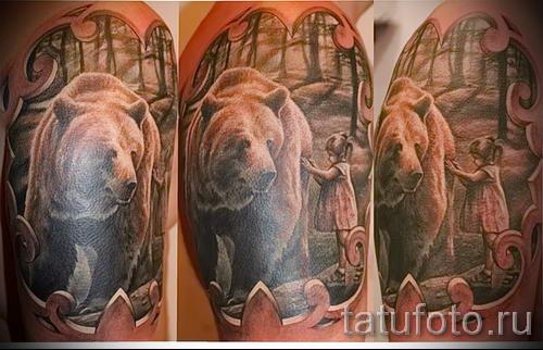 Тату медведь - Фото, Эскизы Татуировка медведь