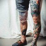 photo - cool tattoo on her leg - an example 1061 tatufoto.ru