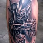 photo - cool tattoo on his calf - an example 1064 tatufoto.ru