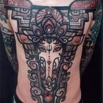 photo - cool tattoo on his chest for men - an example 1065 tatufoto.ru