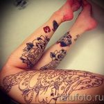 photo - tatouage fraîche sur sa jambe - un exemple 1104 tatufoto.ru
