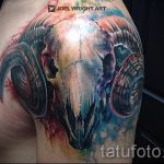 ram skull tattoo - a photo of the finished tattoo on 02082016 2030 tatufoto.ru