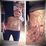 ram tatouage de crâne - une photo du tatouage fini sur 02082016 1031 tatufoto.ru