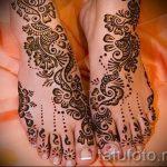 schöne mehendi auf ihrem Bein - Optionen für temporäre Henna-Tattoo auf 05082016 2109 tatufoto.ru