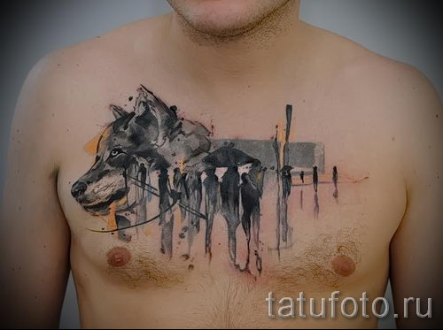 tatouage Airborne sur sa poitrine - par exemple Photo du tatouage 1037 tatufoto.ru