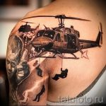 tatouage Airborne sur son épaule - exemple photo du tatouage 1039 tatufoto.ru