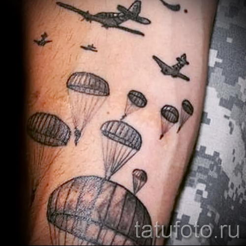 tatouage Airborne sur son bras - par exemple Photo du tatouage 1038 tatufoto.ru