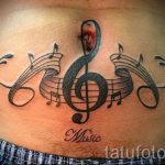 tatouage note sur son ventre - une photo du tatouage fini 02082016 1033 tatufoto.ru