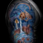 tatouages Aquarius pour les hommes - photo - un exemple du tatouage fini 01082016 1046 tatufoto.ru