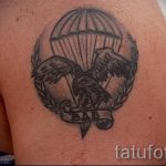 tattoo Airborne parachute canopy - Photo exemplaire du tatouage 2045 tatufoto.ru