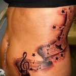 tattoo music notes - photos of the finished tattoo on 02082016 1045 tatufoto.ru