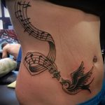 tattoo notes and birds - photos of the finished tattoo on 02082016 1047 tatufoto.ru