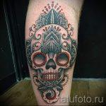 Тату Череп фото - тату для привлечения денег и удачи 4337 tatufoto.ru