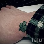 Тату Четырехлистный клевер фото - знак удачи тату для девушек 7391 tatufoto.ru