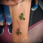 Тату Четырехлистный клевер фото - тату удача счастье богатство в цветке 2466 tatufoto.ru