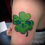 Тату Четырехлистный клевер фото - фото тату которые приносят удачу 6486 tatufoto.ru