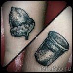 Тату желудь фото - символ удачи тату 1042 tatufoto.ru