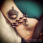 Тату желудь фото - тату иероглиф удача 3049 tatufoto.ru