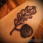 Тату желудь фото - тату на удачу достаток и любовь 2053 tatufoto.ru