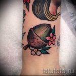 Тату желудь фото - тату на удачу достаток и любовь 4055 tatufoto.ru
