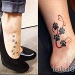 маленькие и простые тату на ногу - фото готовой татуировки 02092016 4138 tatufoto.ru