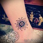 маленькие и простые тату на ногу - фото готовой татуировки 02092016 6140 tatufoto.ru
