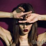 маленький пистолет тату - фото готовой татуировки 01092016 5067 tatufoto.ru