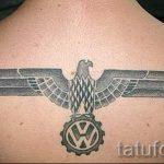 орел со свастикой тату - фото готовой татуировки от 02092016 1020 tatufoto.ru