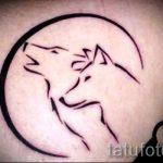 простые тату волка - фото готовой татуировки 02092016 3191 tatufoto.ru
