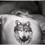 простые тату волка - фото готовой татуировки 02092016 7195 tatufoto.ru